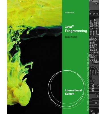 By Joyce Farrell - Java Programming (7th Edition) (1.1.2013) by Course Technology