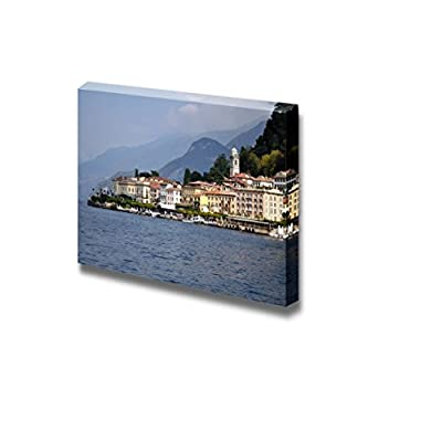 Beautiful Scenery Landscape Village on The Lake of Como in Northen Italy - Canvas Art Wall Art - 12