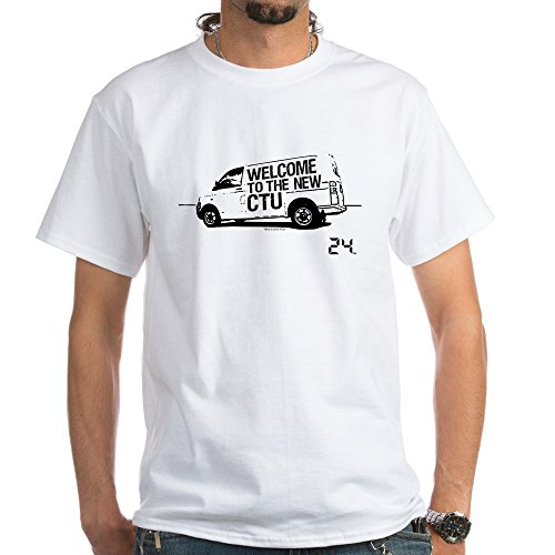 CafePress 24 CTU Van White T-Shirt - 100% Cotton T-Shirt, White (24 Ctu T-shirt)