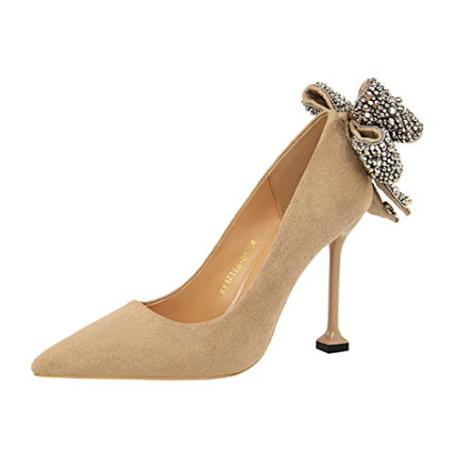 (Kyle Walsh Pa Women Sexy Pumps Ladies Stiletto Pointed Toe Bow Knot Female Stylish Party Banquet High Heel Shoes)