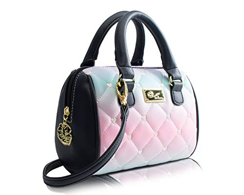 Luv Betsey Johnson Harlee Rainbow Mini Crossbody Satchel Bag - Pastel from Betsey Johnson