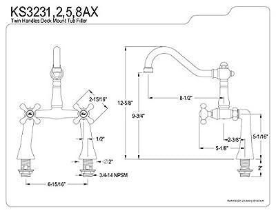 Kingston Brass Heritage Vessel Sink Faucet