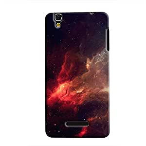 Cover It Up - Red space Cloud YU Yureka Hard case