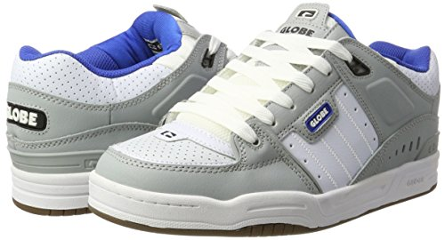Globe Fusion Men Round Toe Synthetic Gray Skate Shoe Grey / Blue / White cheap price store explore sale online 9DaDV9dXDd