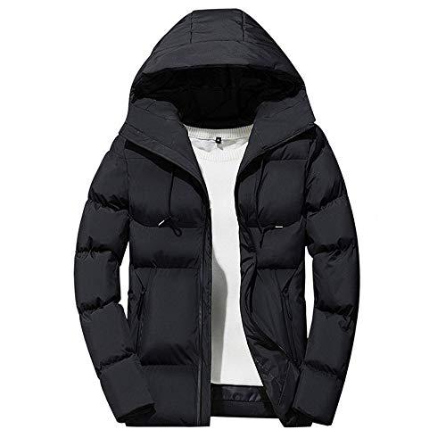 Mens Jacket Godathe Men's Winter Leisure Zipper Hoodie Down Jackets Stand Collar Coat Outwear Tops M-4XL