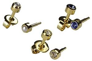 Hypoallergenic Posts Gold Mermaid Stud Earrings