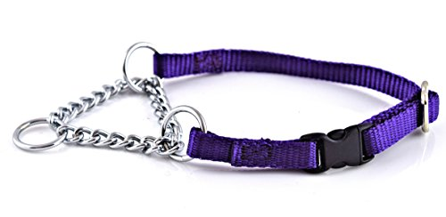 (Nylon Martingale Adjustable Chain Collar with Quick-Snap Release Extra Small 3/8