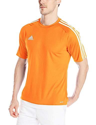 adidas Men's Estro 15 Soccer Jersey, Orange/White, Large