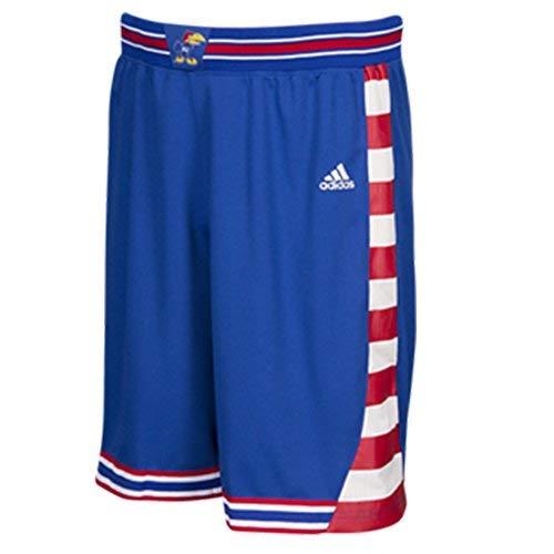 (Kansas Jayhawks Adidas Adult Royal Finished Basketball Shorts (Small))