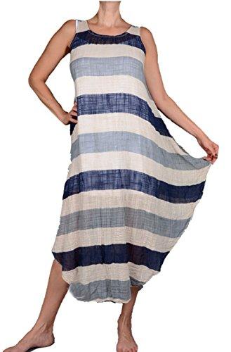 2tlg Sommer Ballon assymetrisch Kleid Tunika Shirt Lagenlook 38 40 42 44 46 S M L XL Strand Urlaub Creme Blau Grau