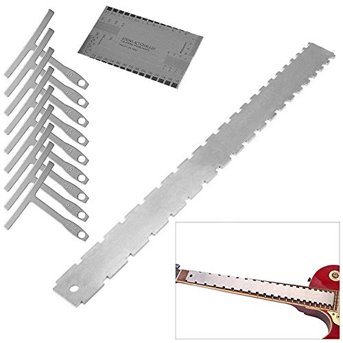 Activists Guitar Neck Notched Straight Edge Luthiers Tool with 9 Understring Radius Gauge and String Action Gauge for Gibson Fender and Most of Guitar Fretboar