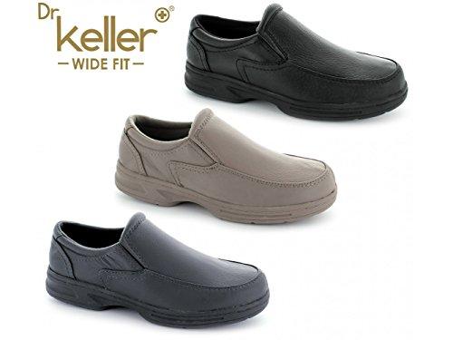 Dr Keller HOWARD Mens Leather Wide Fit Loafers Grey Grey xDujB3