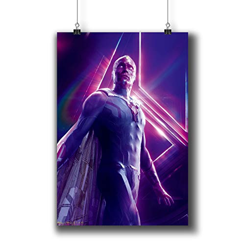 Avengers: Infinity War (2018) Movie Poster Small Prints 183-212 Vision,Wall Art Decor for Dorm Bedroom Living Room (A3|11x17inch|29x42cm)