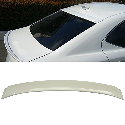 Roof Spoiler Fits 2006-2013 IS250 IS350 4Dr | OEM Painted #077 Starfire Pearl White Rear Trunk Tail Spoiler Wing by IKON MOTORSPORTS | 2007 2008 2009 2010 2011 - Wing Oem Spoiler