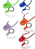 [5 pcs] Universal Cellphone Camera USB Driver Keychain ID Name Tag Badge Holders MP3 MP4 Detachable Hand Wrist Neck Lanyard Strap (5 pcs, Random Color)