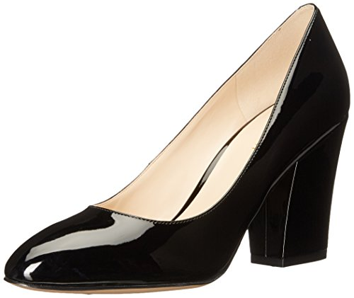 Nine West Women's Nwscheila3 Closed Toe Heels, Natural, Medium Black (Black Cu)