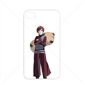 Naruto Sasuke Manga Anime Comic Gaara Apple iPhone 4 / 4s TPU Soft Black or White case (White)
