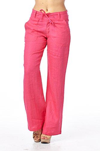 Womens Linen Drawstring Pants - 9