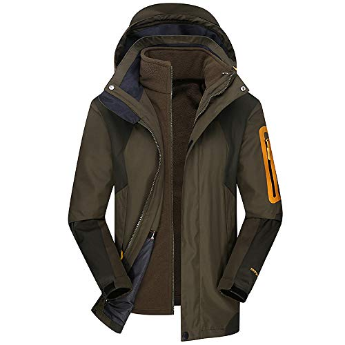 Men's Winter Hoodie Two Piece Set Warm Waterproof Windproof Outdoor Outfit Coat