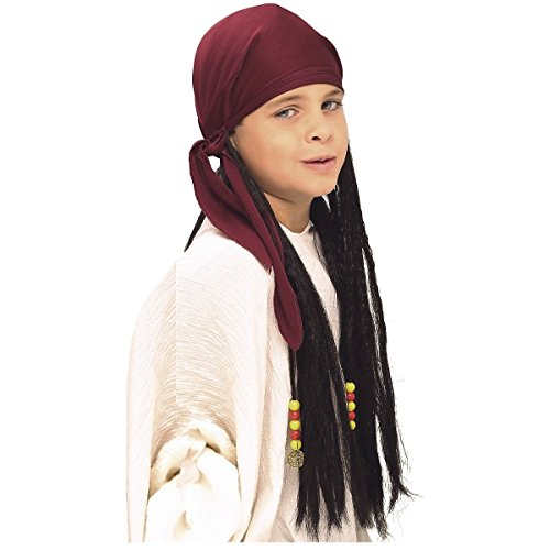 Pirate Bandana with Dreadlocks Wig Costume Accessory (Elf Princess Costume Kit)