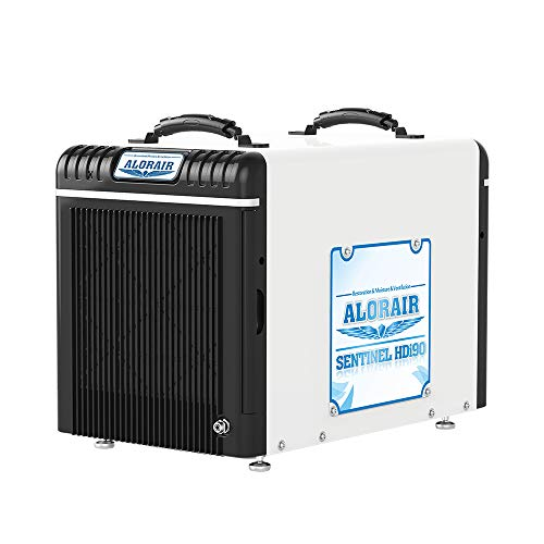 AlorAir Basement/Crawlspace Dehumidifiers 198PPD (Saturation), 90 Pints (AHAM), 5 Years Warranty, Condensate Pump, HGV Defrosting, Epoxy Coating, Remote Monitoring