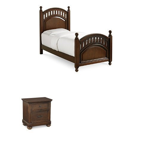 Pulaski Expedition Youth Twin Bed with Two Nightstands