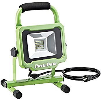 PowerSmith PWL1120BS 20W 2000 Lumen LED Work Light with all Metal Housing with 5 Ft Power Cord