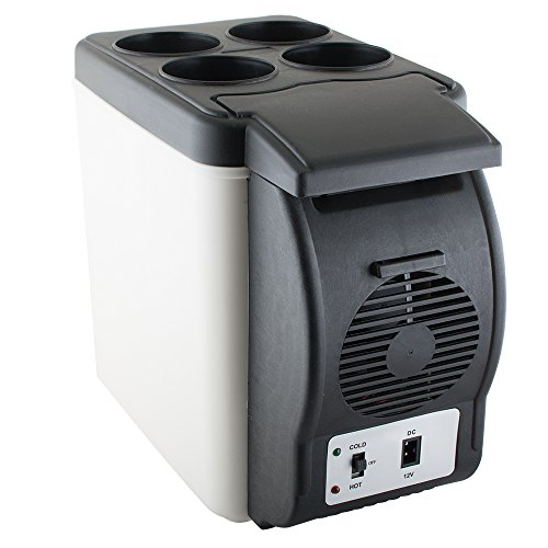 Vinmax Mini Car Refrigerator, Portable Auto Car Freezer Cooler Warmer 6L Electric Fridge Icebox Travel Refrigerator Cooler Box 12V for Truck Party, Travel, Picnic Outdoor, Camping, Home, Office