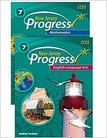 Book New Jersey Progress English Language Arts and Mathematics Student Worktext Bundle Grade 7