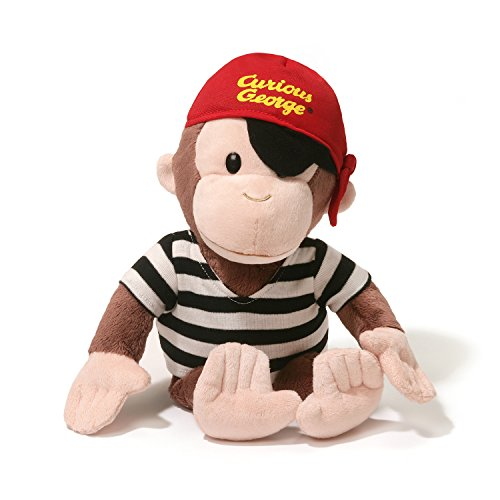 GUND Curious George Pirate Monkey Stuffed Animal Plush, 13