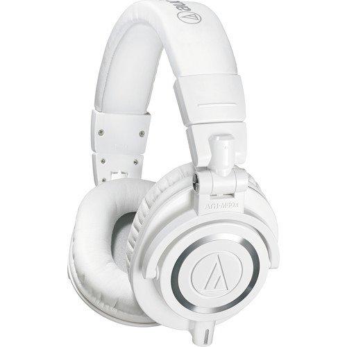 Audio-Technica ATH-M50x Professional Studio Monitor Headphones, White (Certified Refurbished)