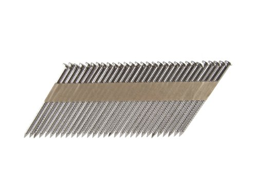 Clipped Head Ring Shank Nails - B&C Eagle A314X131RSS/33 Offset Round Head 3-1/4-Inch x .131 x 33 Degree S304 Stainless Steel Ring Shank Paper Tape Collated Framing Nails (500 per box)