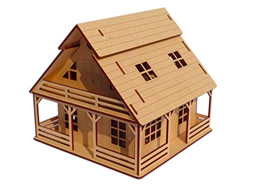 NEKBAL 3D Wooden Puzzle Toy   Cottage House