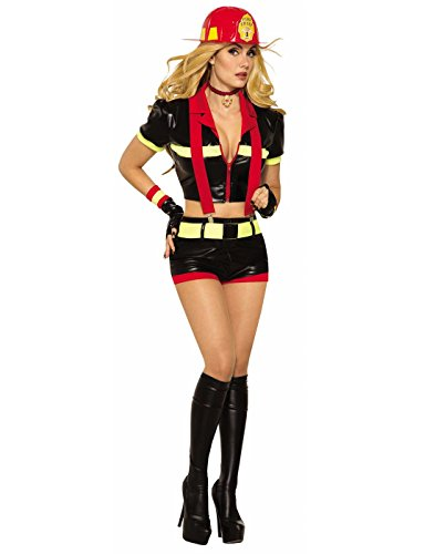 Women's Hot Firefighter Costume]()