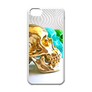Fashion Element The Skeleton Skull Unique Design Cover Case with Hard Shell Protection for Iphone 5C Case lxa#864920