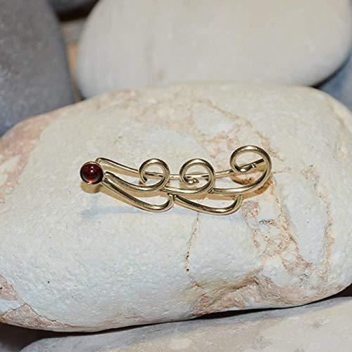 3mm Garnet EAR CLIMBER // 14k Gold Filled Earrings - Earcuff - Up The Ear Earrings - Climber Earrings - Garnet Post Earring ()
