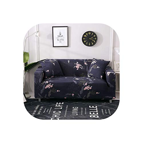 Cloudy Clouds Floral Leaves Printing Sofa Cover Tight Wrap All-Inclusive Couch Cover for Living Room Anti-Dirty Furniture 1/2/3/4 Seater,Catalina Blue,4235-300Cm (Catalina Outdoor Sectional)