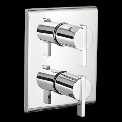 Times Square Thermostat Trim Double Handle Finish: Chrome Double Handle Part