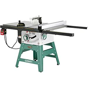 Grizzly Grizzly G0661 2 HP Contractor Style Table Saw with Riving Knife, 10-Inch