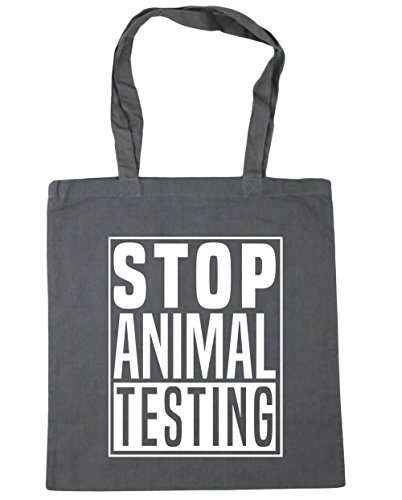 x38cm HippoWarehouse litres Beach Animal Gym Graphite Testing Shopping Tote Stop 42cm Grey Bag 10 6T4qw6z