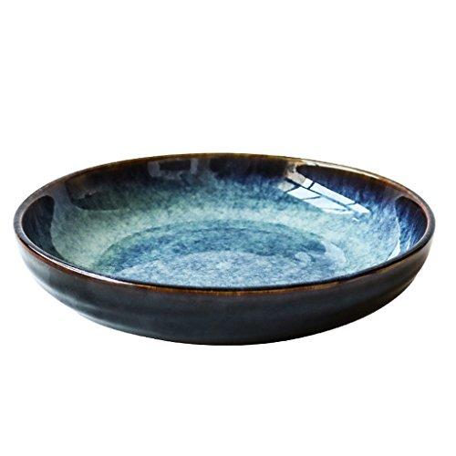 Ceramic Bowl Italian Japanese Pasta Cereal Tableware And Kiln Glaze Snack Salad Plate Food Utensils ()