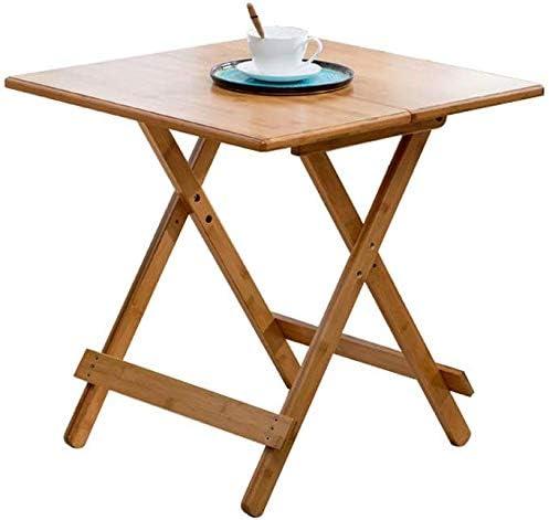 Qivor Simple Mesa Mesa Plegable Mesa Pequeño Apartamento de bambú ...