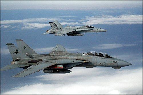 Hornet 18a (16x24 Poster; F-14D Tomcat F-14 And Fa-18A+ F-18 Hornet)