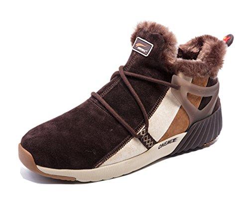 Snow Winter Fur 8 Dark D Outdoor M Sneaker US Khaki Boots Lined Brown Sports r55qpwAXx