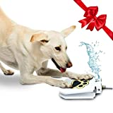 Image of Outdoor Dog Drinking Water Fountain Step On - Upgraded 2019 Easy Paw Activated Drinking Pet Dispenser, Fresh Water, Sturdy, Easy to Use + Bonus by TrioGato