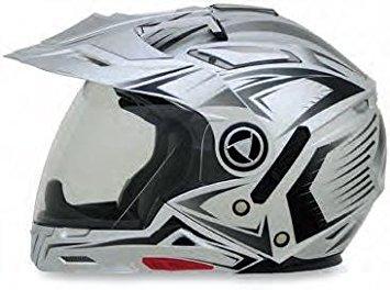 AFX FX-55 7-in-1 Helmet, Distinct Name: Silver Multi, Gender: Mens/Unisex, Helmet Category: Street, Helmet Type: Modular Helmets, Primary Color: Silver, Size: 2XL 0104-1609