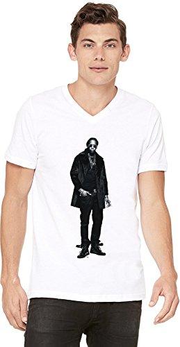 Blanc neck Hip V shirt Chainz T 2 Mens Hop 4qxC8wwnH