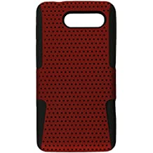 Eagle Cell PHMOTXT901NTBKRD Progressive Hybrid Protective Gummy TPU Mesh Defense Case for Motorola Electrify M XT901 - Retail Packaging - Black/Red