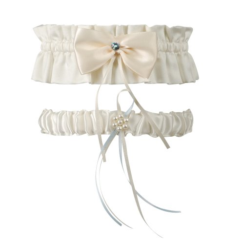 Ivy Lane Design Garbo Collection Garter Set, Ivory ()