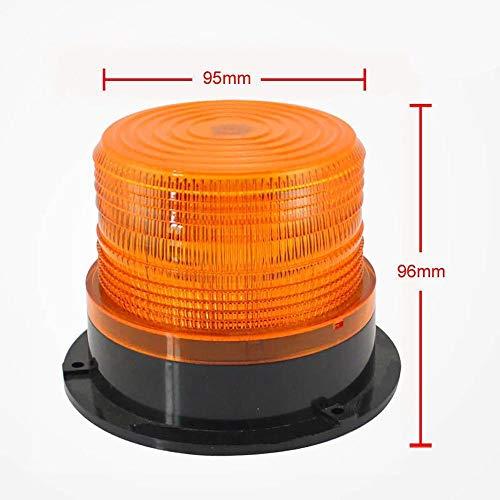 Construction Vehicle Signal Light,Lefthigh LED Car Warning Light Emergency Light Bulb Amber Flashing Strobe Beacon 12V-24V